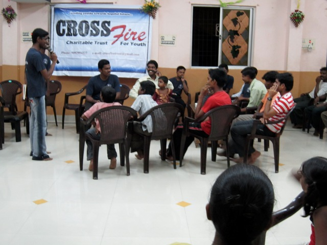 bro_asking the questions from the youth boys came for program.