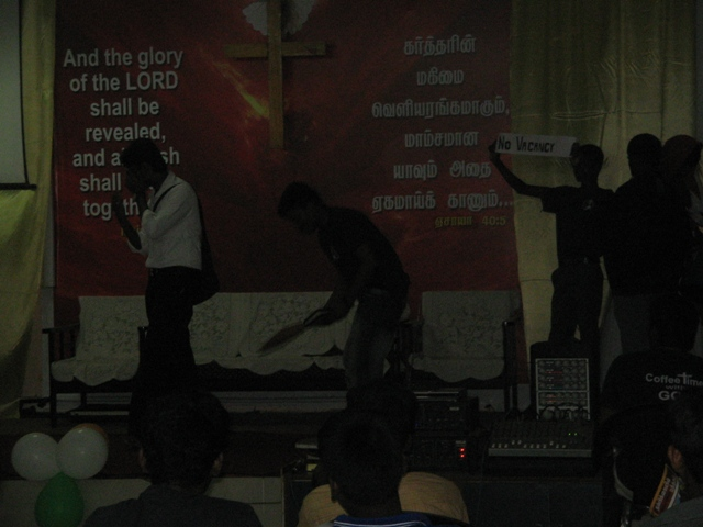 Our Youth performing the Skit (concept based on a person who fails in all his work but getting Success after he accept JESUS CHRIST in his life) (2).JPG