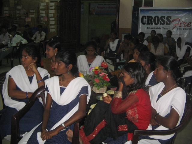 Our church youth girls who attend the coffee club.JPG